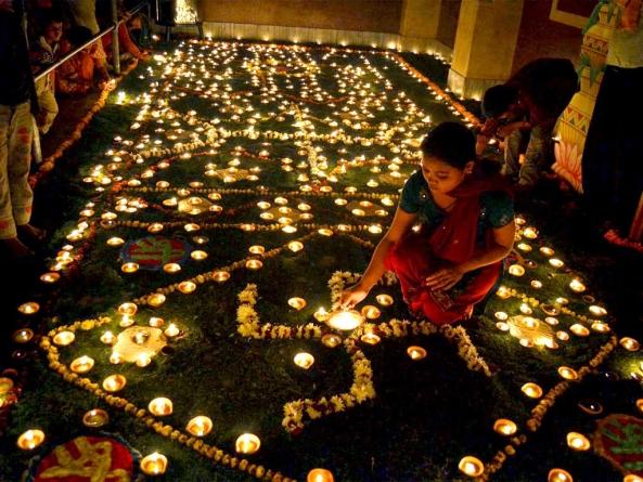 Diwali : Festival of Lights and Colorful Rangoli.