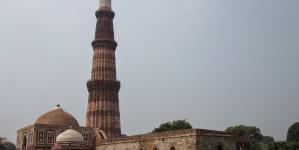 Qutub Minar : The world's tallest brick minaret.
