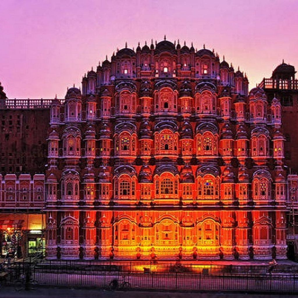 Hawa Mahal Jipur Night View